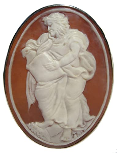 Amazon artistic master carved sardonyx shell cameo pin pendant artistic master carved sardonyx shell cameo pin pendant italian sterling silver aloadofball Image collections