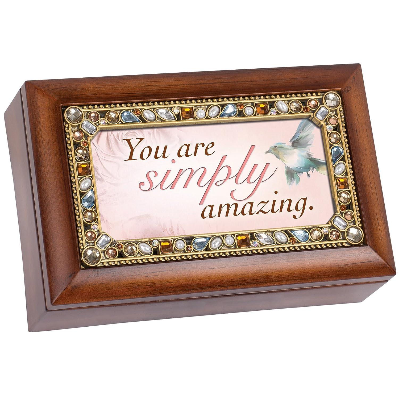 【数量限定】 You World Are Simply Amazing Jeweled木目調ジュエリー音楽ボックス – Plays Tune – Wonderful Are World B00U1Q8NOI, フォレストア:04feb23e --- arcego.dominiotemporario.com