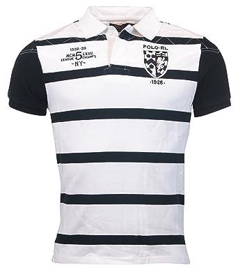Ralph Striped Lauren Polo Men's Custom Fit Shirt IH29WYeED