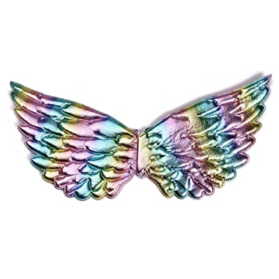 Tutu Dreams Rainbow Wings for Kids Girls Unicorn Dress Fairy Princess Costume Accessories Birthday Christmas Party (Rainbow-1, 17.32 X 9.05): Clothing