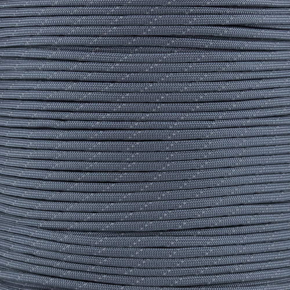 Reflective Type III 550 Paracord - FS Navy - 10 Ft Hank - 7 Strand Core - 100% Nylon, Parachute Cord, Commercial Paracord, Survival Cord by PARACORD PLANET (Image #1)