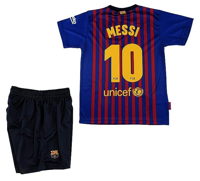 01c11c98a22 Barcelona F.C. BARÇA Box 1ª Equip 2018-2019 Messi T-10  Amazon.co.uk ...