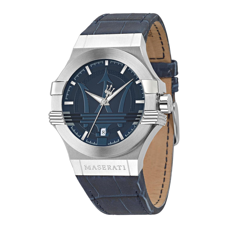 Maserati Reloj Analógico de Cuarzo para Hombre con Correa de Cuero – R8851108015