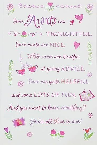 Amazon.com: Tía – feliz cumpleaños tarjeta de felicitación ...