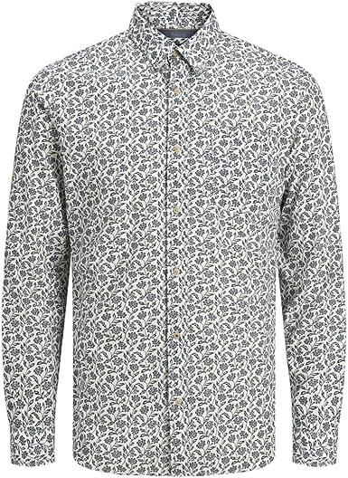 JACK & JONES 12167092 - Camisa Kyle para Hombre, diseño Floral, Color Blanco: Amazon.es: Ropa y accesorios