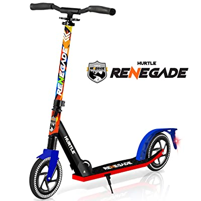 """Scooter – Scooter for Teenager – Kick Scooter – 2 Wheel Scooter with Adjustable T-Bar Handlebar – Folding Adult Kick Scooter with Alloy Anti-Slip Deck – Scooter with 8"""" Smooth Gliding Wheels by Hurtle : Sports & Outdoors"""