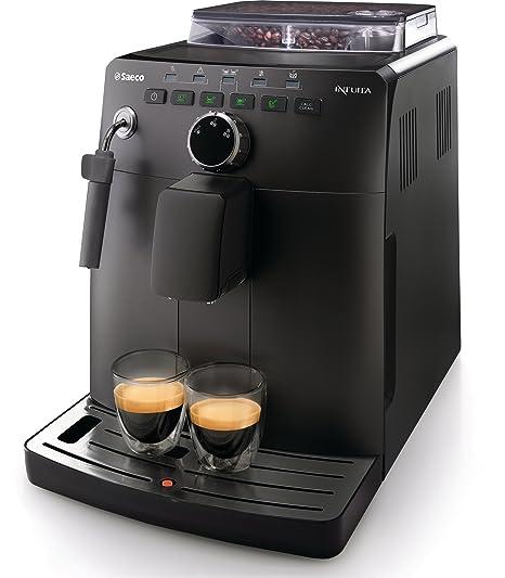 Saeco HD8750/11 - Cafetera automática (Goteo, Independiente, Negro, Granos de