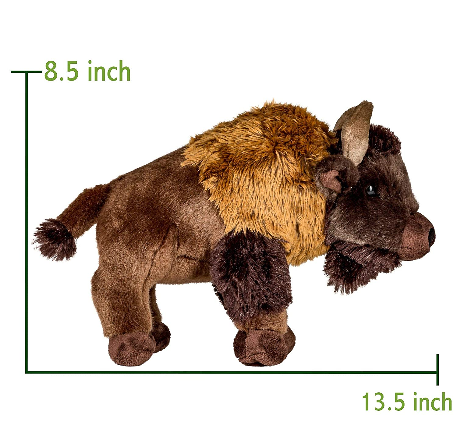 Wildlife Tree 13 Inch Stuffed Buffalo Plush Floppy Bison Animal Kingdom Collection