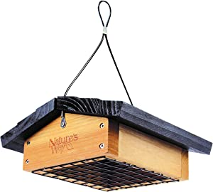 Nature's Way Bird Products CWF2 Cedar Suet Upside-Down Bird Feeder