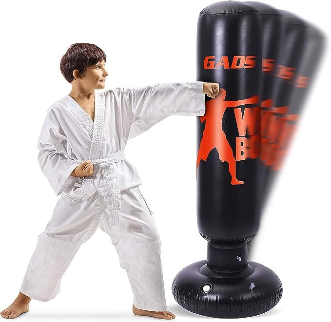 CW/_ KICK Training Punching Bag Inflatable Boxing Column Tumbler Sandbag Kids Adu