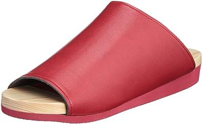 Flexible Motif Geta par Foret de santal japonais–Rouge, Cuir Bois dense, Red, 7.5 UK