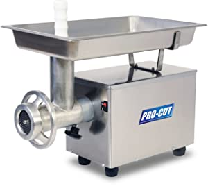PRO-CUT KG-12-FS Food Service Meat Grinder, 12 Different Plates, 3/4 HP, 110V, 60 Hz
