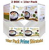 AZ Prime - Konjak Shirataki Nudeln aus Konjakwurzel (2er BOX | 10x290g | 2.9 kg)