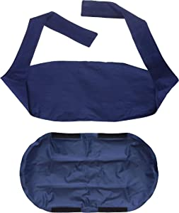 Sunny Bay Two-in-one Ice Pack & Heating Wrap: Reusable Large Therapy Pads for Sore Back Neck Knee & Shoulder Pain Relief Personal Non Electric Deep Muscle Non Toxic Gel Hot Pack or Cold Wrap