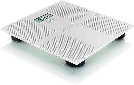 Laica PS1066 Bilancia Pesapersone Elettronica, 200 kg, Vetro Temperato