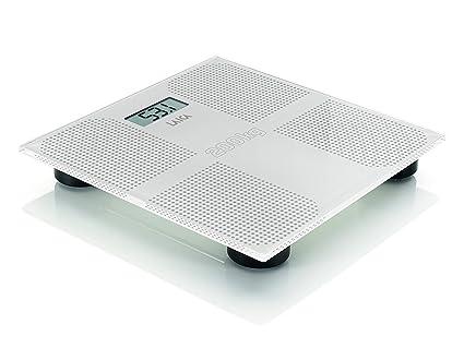 Laica Electronic Personal Scale Báscula Personal electrónica Plaza Blanco - Báscula de baño (Báscula Personal