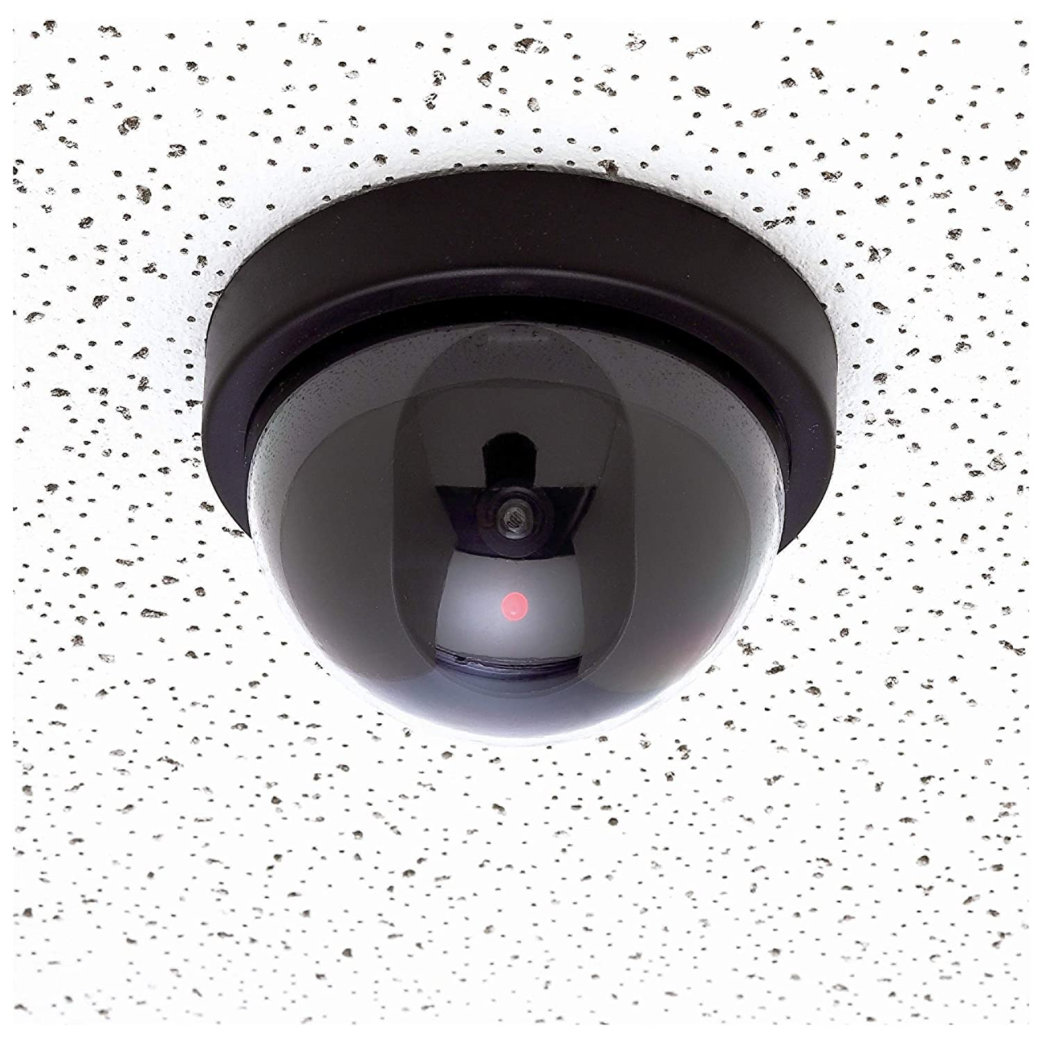 Fake Dummy Security CCTV Dome Camera with Flashing Motion Sensitive Red LED Light for Indoor and Outdoor Use Mitaki-Japan 4 Piece
