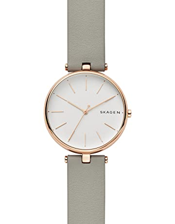 418844222a5c Skagen Womens Analogue Quartz Watch with Leather Strap SKW2710