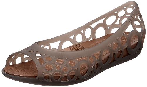 f43cb3dd8 crocs Women s Espresso and Bronze Ballet Flats - W4  Buy Online at ...