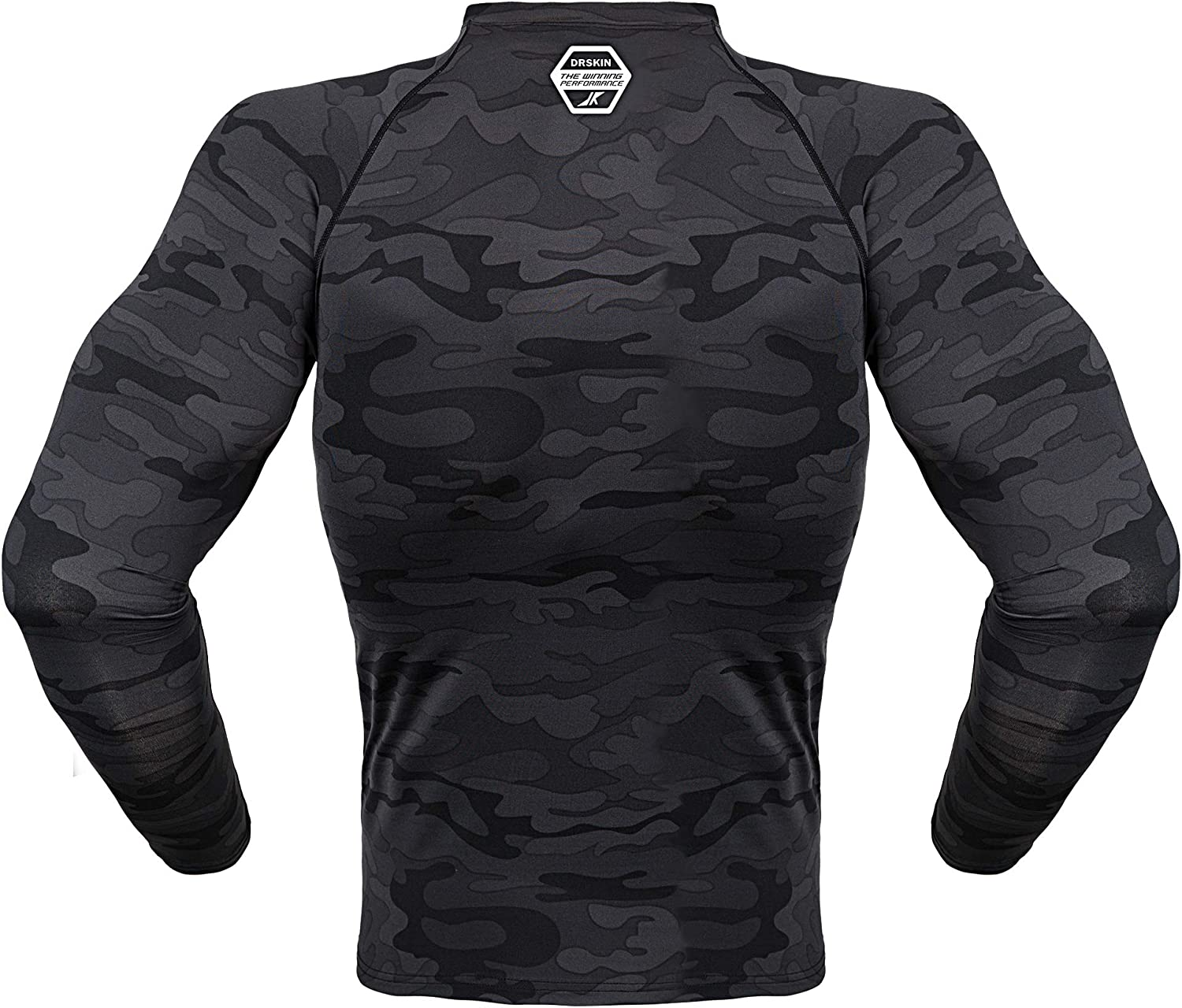 DRSKIN Herren Thermo Wintergear Kompressions-Baselayer aus Fleece mit Langen /Ärmeln