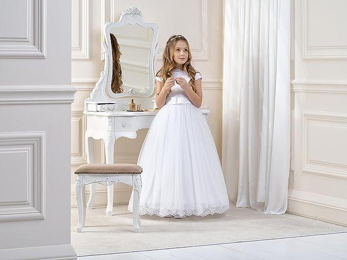 Lacey Bell Vestito Bambina Damigella Prima Comunione Tulle Gonna Corpetto  Raso CD-11  Amazon.it  Abbigliamento c9a36a864ac