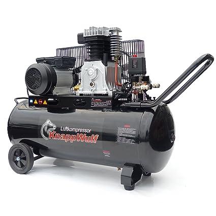 Knapp Wulf Compresor De Aire kw3100 con depósito 100L Impresión 250L/min