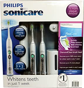 Philips Sonicare Flexcare Rechargeable Sonic Toothbrush Premium Edition 2 pac...