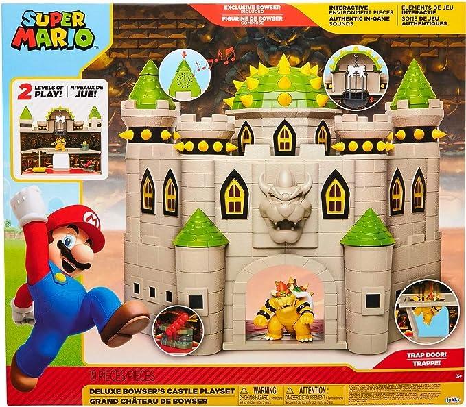 Amazon Com Nintendo Bowser S Castle Super Mario Deluxe Bowser S