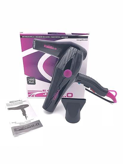 Giubra Professional secador pelo Eco Jet 2.0 | Potencia 2000 W) negro