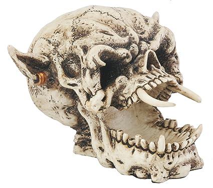 amazon com demon skull collectible figurine statue figure