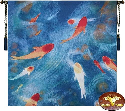 Beautiful Fish Fine Tapestry Jacquard Woven Wall Hanging Art Decor