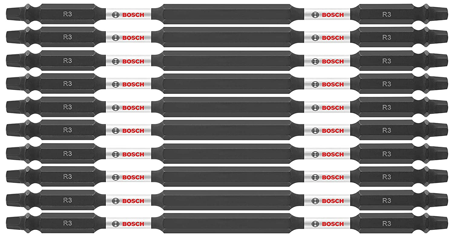 Bosch ITDESQ36B Impact Tough 6 In Square #3 Double-Ended Bits