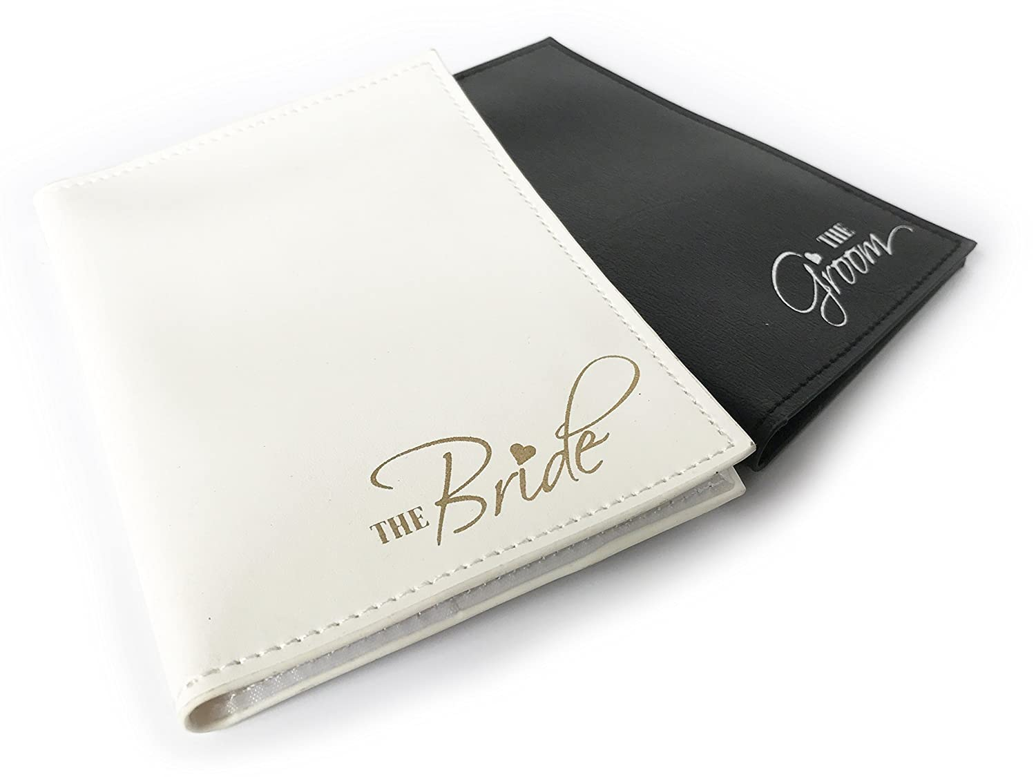The Bride & The Groom Just Married Wedding Honeymoon Passport Holders Set of 2 Forum Novelties 10473866