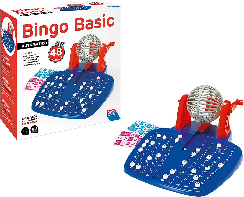 Falomir Bingo Automático Mesa. Juego Clásico, Multicolor, 28 x 29 x 11 cm (27921)