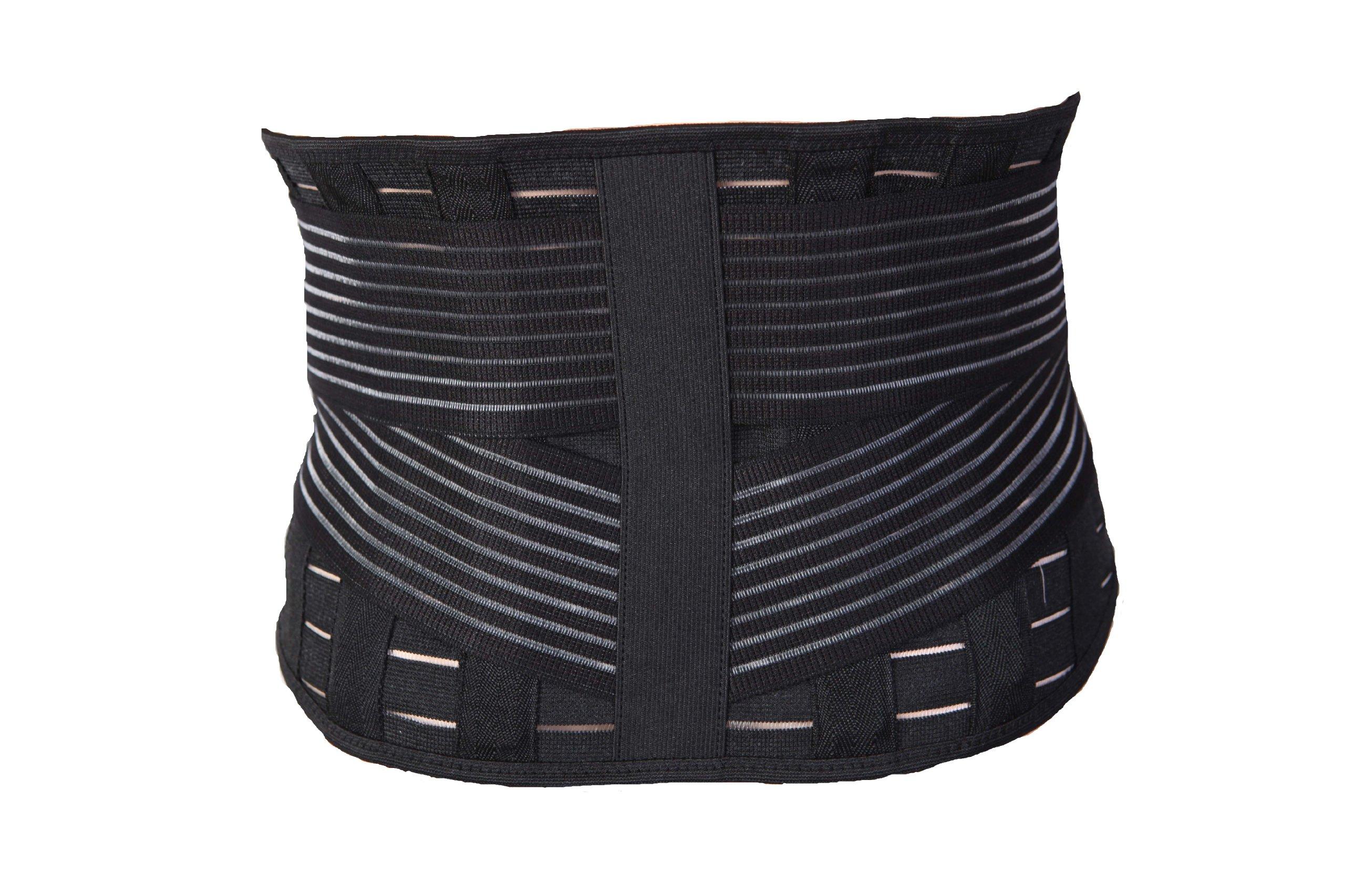 Incrediwear Low Back Brace (Black, X-Large) by Incrediwear