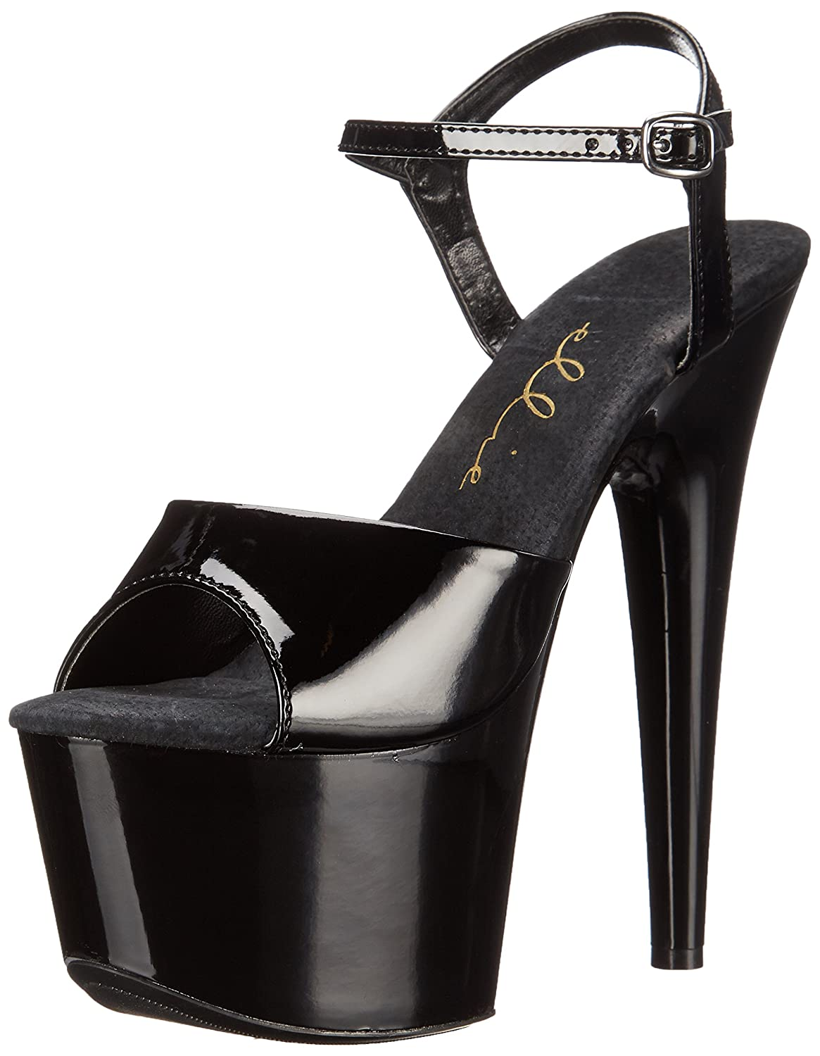 Ellie Shoes Women's 709 Juliet Platform Sandal B001N89OEQ 6 B(M) US|Black