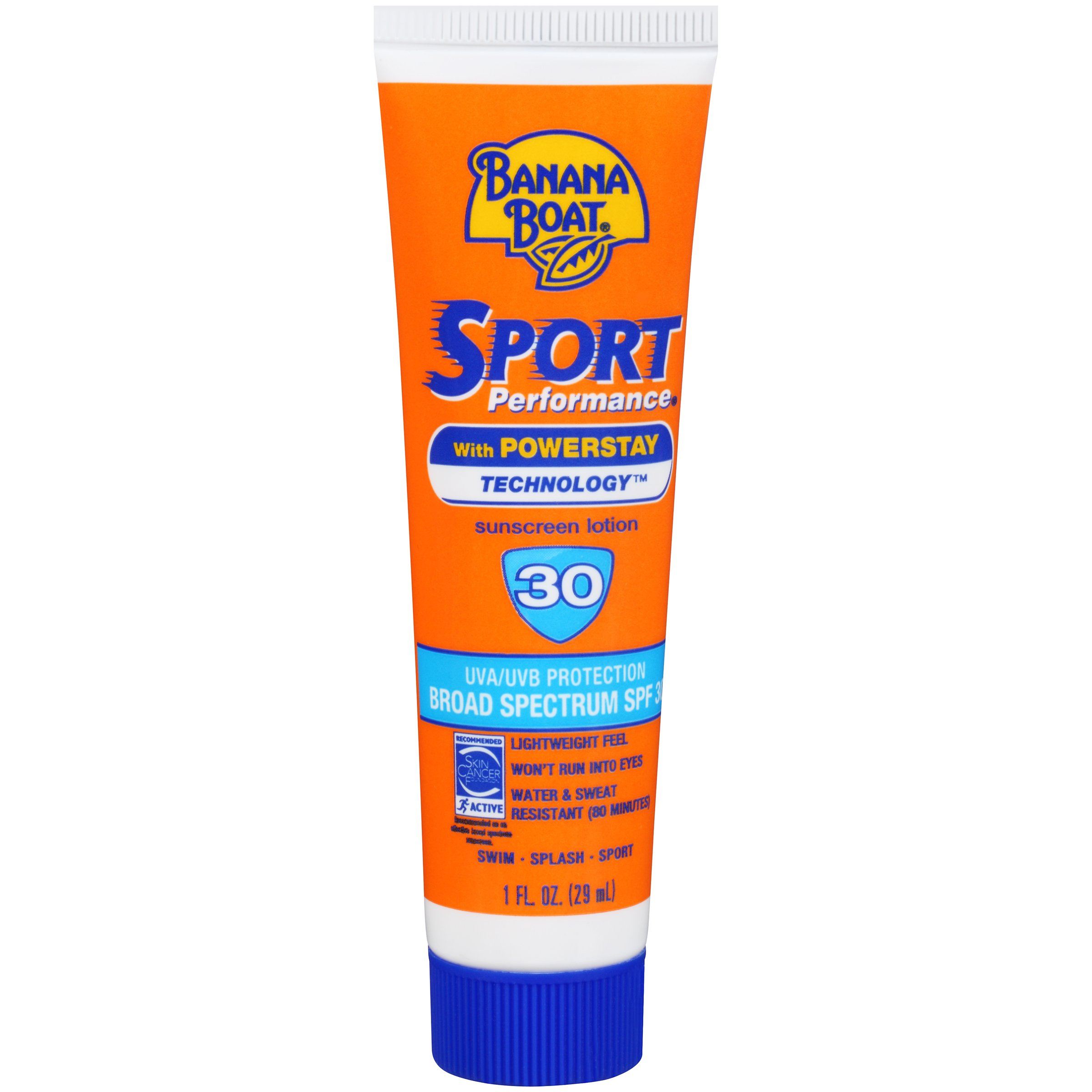 Banana Boat Sport Performance Sunscreen Lotion 30 Spf 1 oz(Pack Of 24)