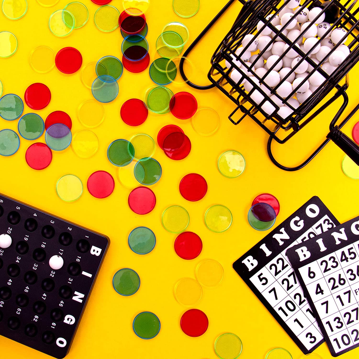 Educational STEM Resource Kids Classroom Large Translucent Colored Counting Markers for Elementary and Early Childhood Math Games 100 Jumbo 1.25 Bingo Chips for Large Print Cards