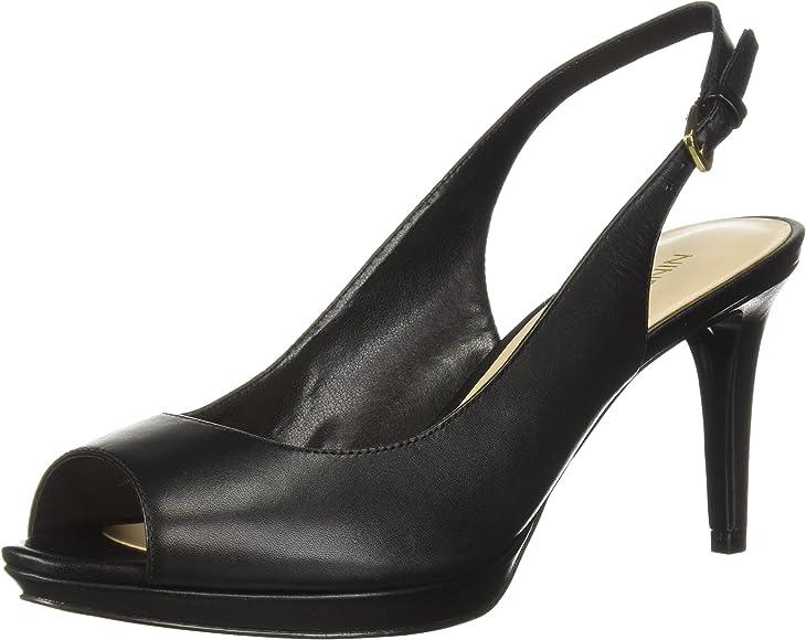 Gabrielle Pump, Black Leather