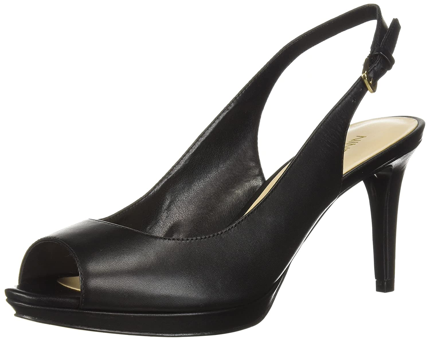 Nine West Women's Gabrielle Pump B07227D3XY 6.5 B(M) US|Black Leather