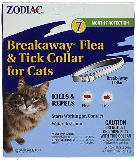 Amazon.com: Zodiac Breakaway Flea and Tick Collar para gatos ...
