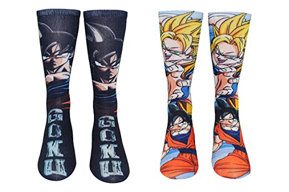 4a37925d7e0 Amazon.com  Dragon Ball Z Socks (2 Pair) - 360 Socks Ladies   Men s ...