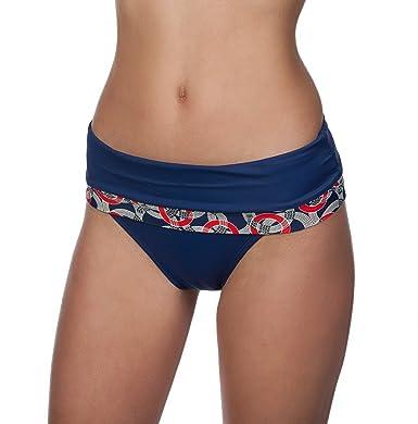 09dd9aa09c467 Amazon.com  Panache Women s Nancy Fold Over Bikini Swim Bottom  Clothing