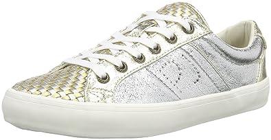 London Damen Clinton Mesh Silver Sneakers, Silber (Silver), 38 EU Pepe Jeans London