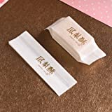 Cotton Paper Bag Pineapple Cake Packaging Wrapper For Cookie Candy, Golden Writing, 100 Pcs (5x1.6x1 inch)