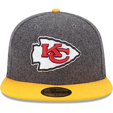 89f86a7d288 Image Unavailable. Image not available for. Color  Men s New Era Kansas  City Chiefs Melton Basic 59FIFTY  Structured Fitted Hat 7 1