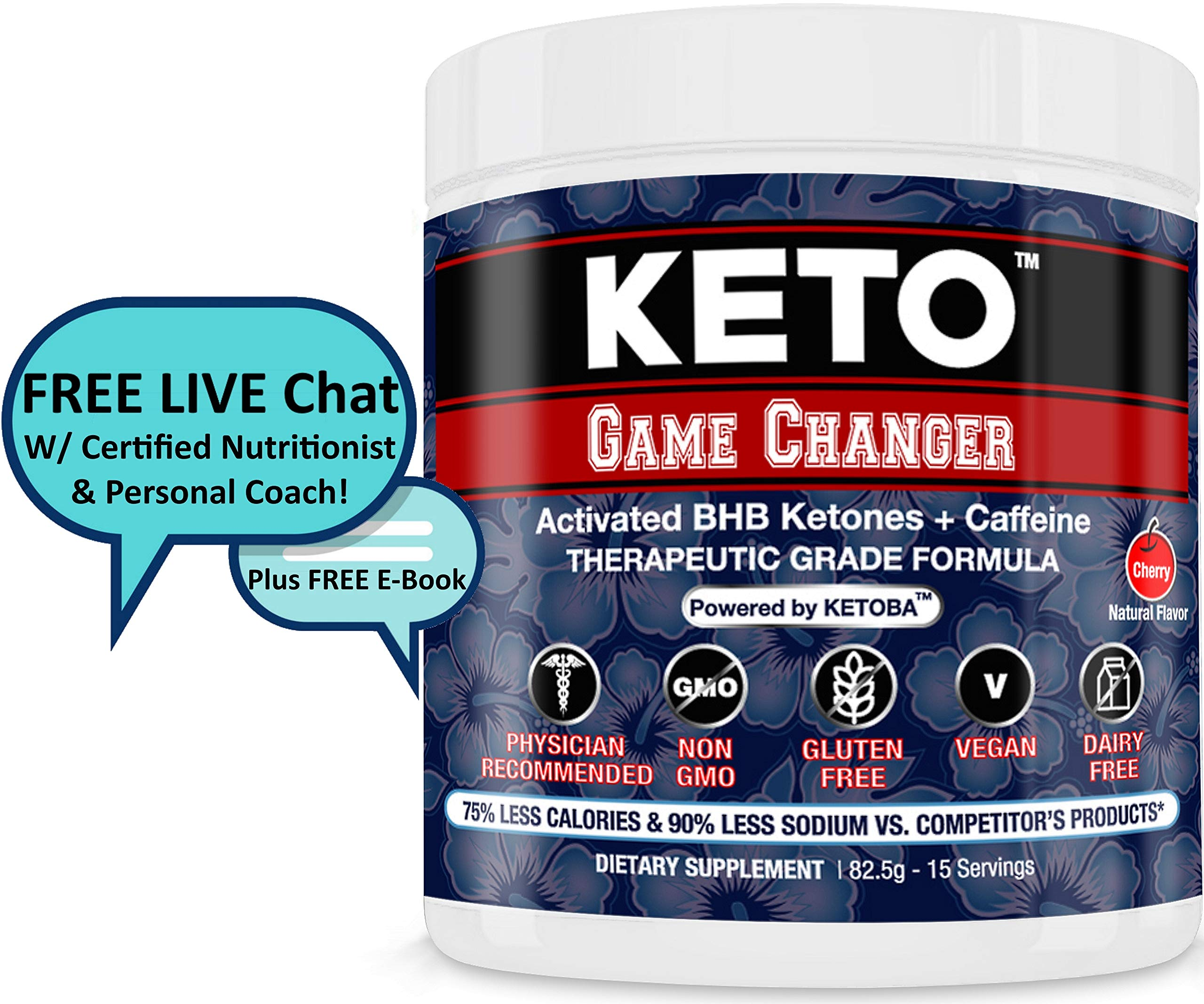 Fast BHB Keto Diet & Pre-Workout Exogenous Ketones Powder All Natural: Drink/Shakes/Snack | Weight Loss/Energy/Low Carb/NO Keto Flu | Paleo,Atkins,Diabetes-Ketogenic Drive,Ketosis Booster,Supplement by Scotternity