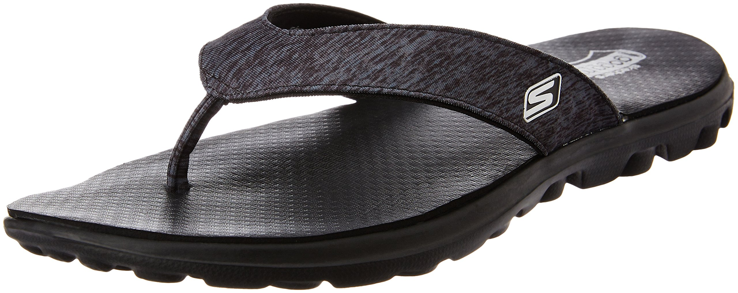 Skechers Womens on-the-GO Flow Thong Sandal Black 8 M US