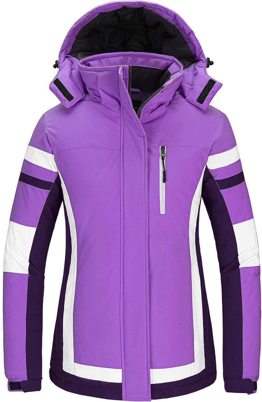 Wantdo Women's Mountain Waterproof Ski Jacket Winter Snow Coat Windproof Snowboarding Jackets