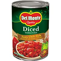 Del Monte Diced Tomatoes Zesty Chili Style, 14.5-Ounce